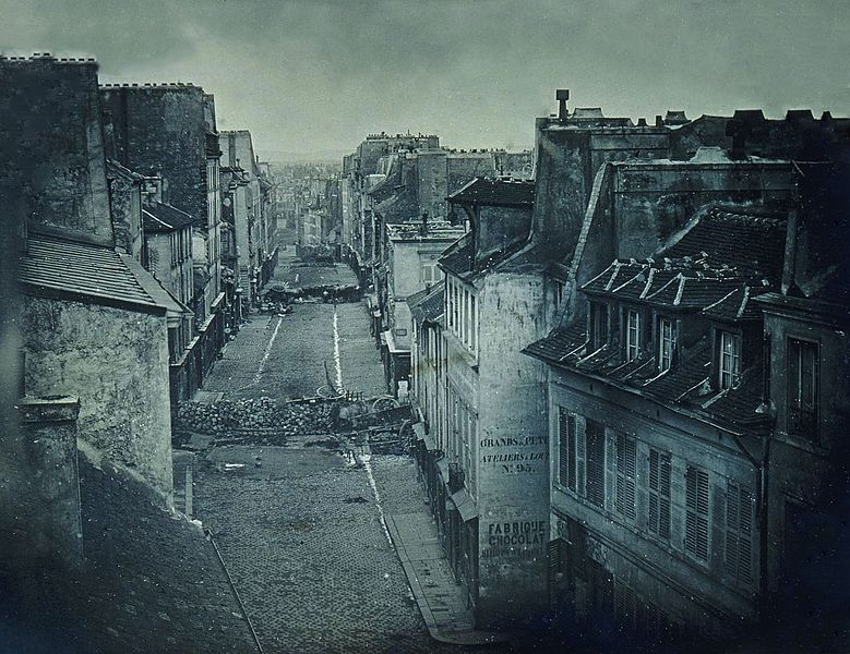 Barricades rue Saint-Maur, juin 1848