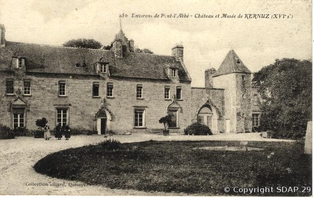 Le château de Kernuz, carte postale Villard