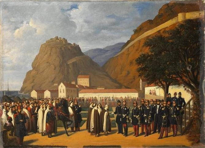 Reddition d'Abd el-Kader par Augustin Régis