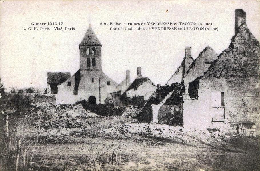 Vendresse et Troyon, carte postale LCH n°619
