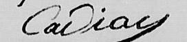 Signature de Pierre Cadiou