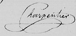 Signature d'Alexandre Charpentier