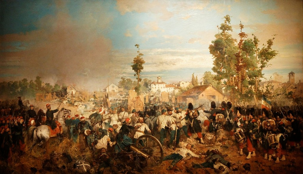 La bataille de Magenta par Gerolamo Induno, Musée de l'Armée à Paris