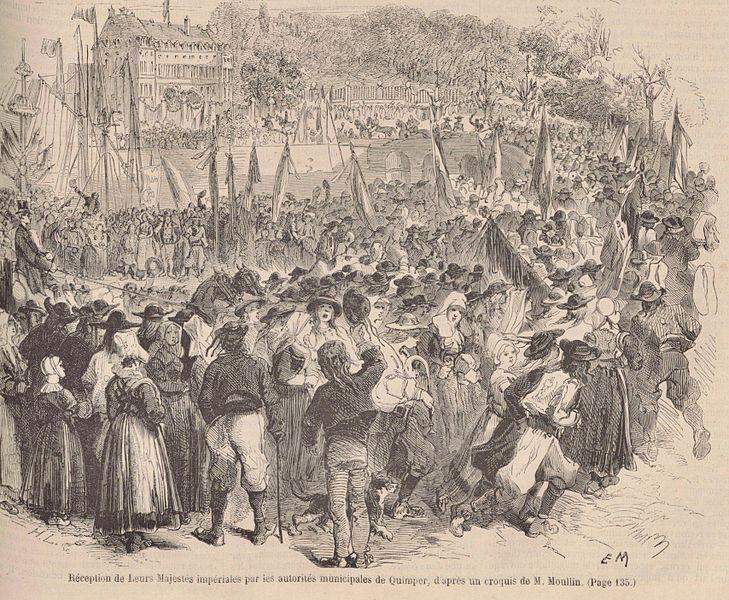 Napoléon III à Quimper, Le Monde illustré du 28 août 1858
