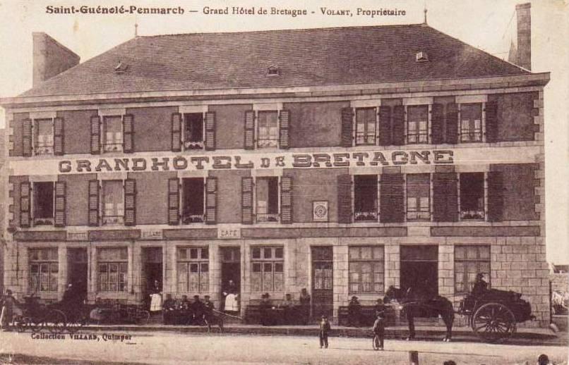 Grand hôtel de Bretagne. Carte postale Villard