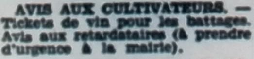 Avis aux cultivateurs, Tél 1946 07