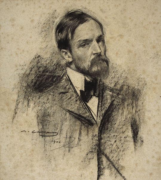 Lucien Simon, portrait par Ramon Casas, Musée national d'art de Catalogne à Barcelone