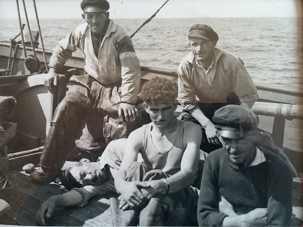 Poissonnière en 1953, Camus, Maréchal, le Donge allongé, Maurice Le Gall et Le Bec au 1er plan