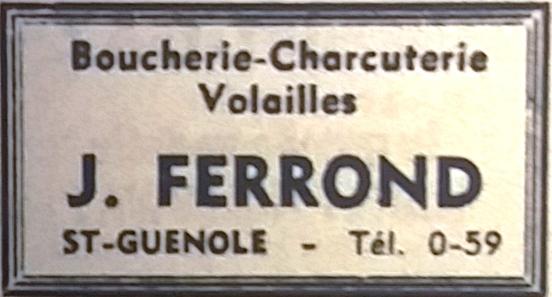Ferrond, Tél 1965 08