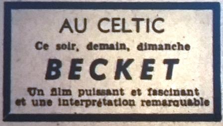 Celtic, tél 1965 09