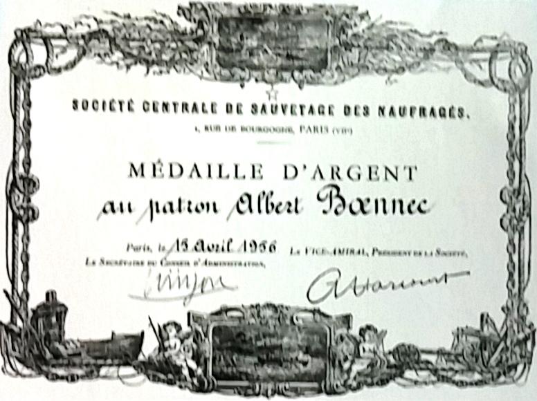 Médaille du sauvetage, Albert Boênnec, Mouez 46
