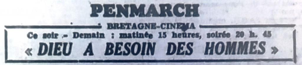 Bretagne cinéma, Tél 1951 10 13