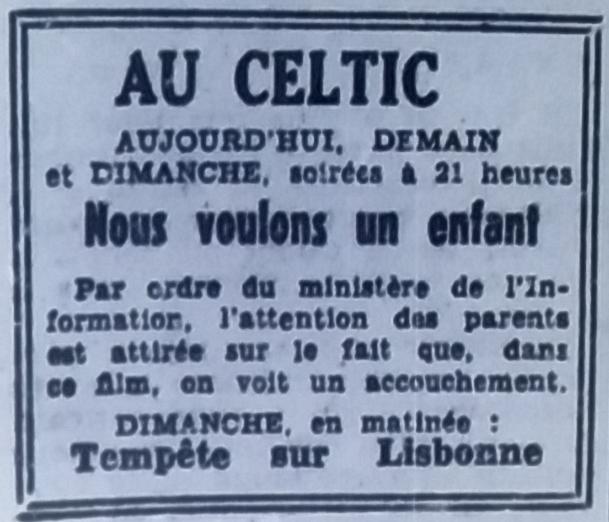 Celtic, tél 1951 08 04