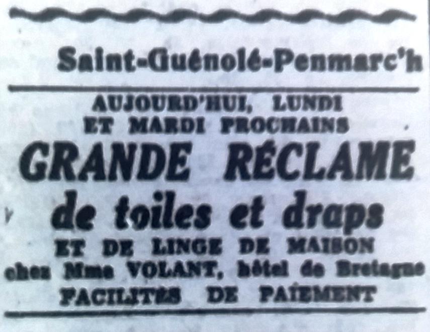 Hôtel de Bretagne, Tél 1951 06 09