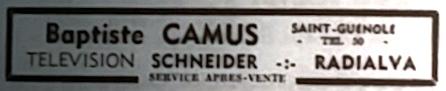 Camus, Baptiste, Tél 1966 03