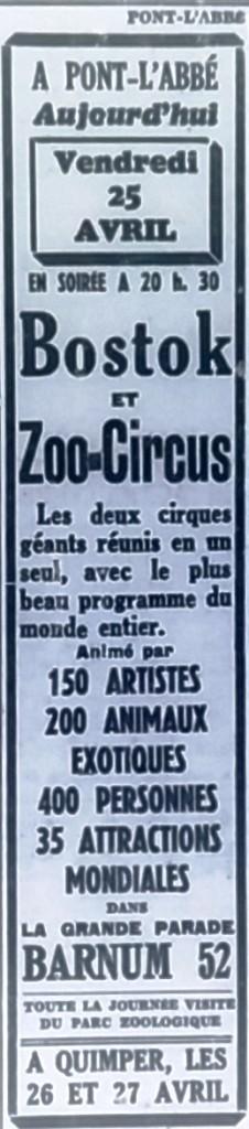 Cirque Bostok, Tél 1952 04 25