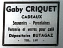 Criquet, Tél 1966 03