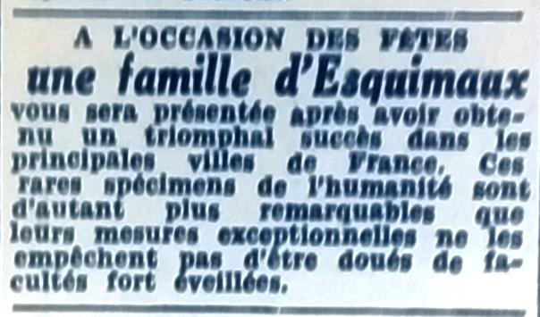 Esquimaux, Tél 1953 08 06