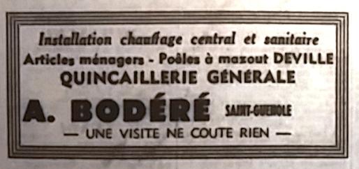 Bodéré, Tél 1966 08 14