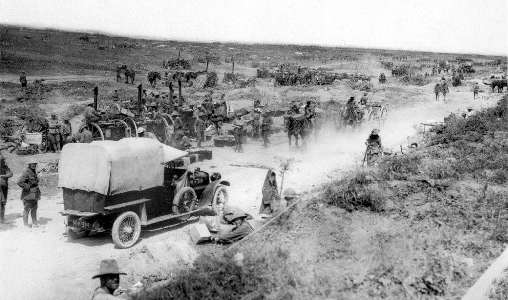 Opérations près de Contalmaison, Sausage_Valley_Somme_28 August_1916 Australian War Museeum