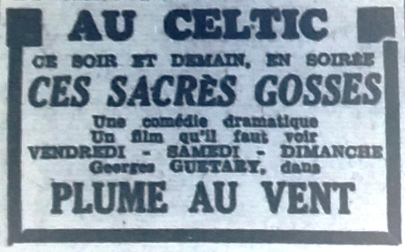 Celtic, Tél 1953 09 09