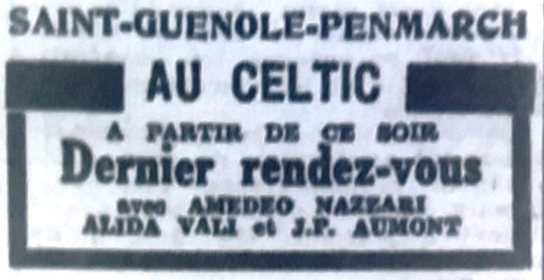 Celtic, Tél 1954 01 16