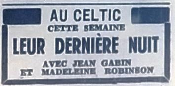 Celtic, Tél 1954 06 04