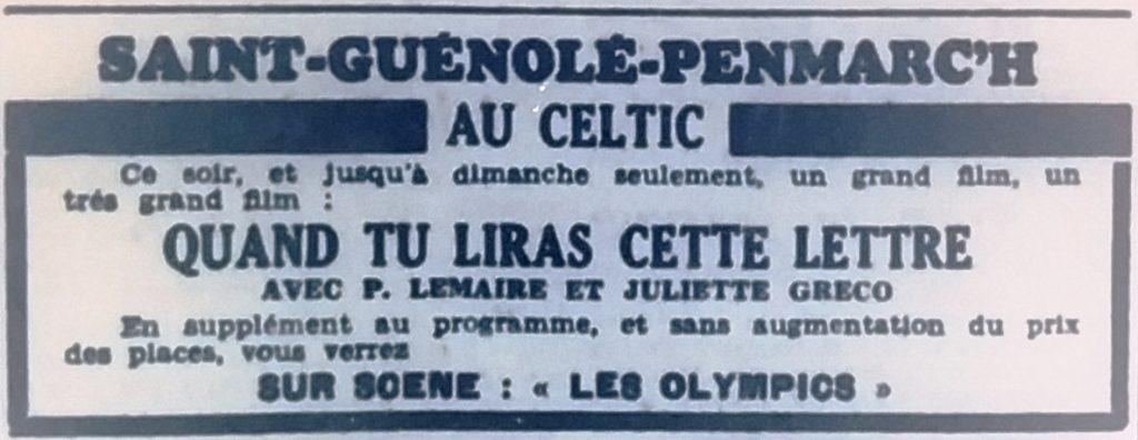 Celtic, Tél 1954 08 06