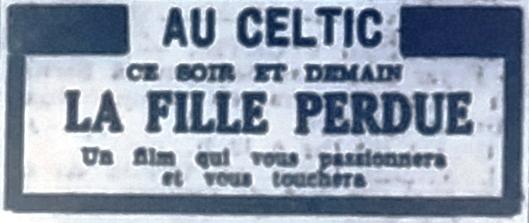 Celtic, Tél 1954 10 09